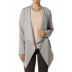 Dorothy Perkins - Grey crepe waterfall jacket
