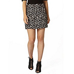 Dorothy Perkins - Animal jacquard mini skirt