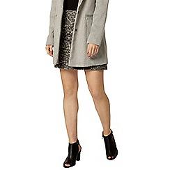 Dorothy Perkins - Animal wool mini skirt