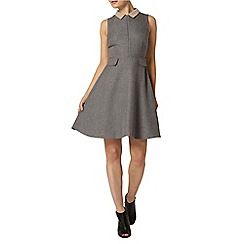 Dorothy Perkins - Grey herringbone skater dress
