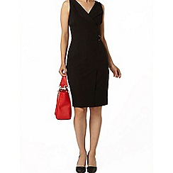 Dorothy Perkins - Black d-ring wrap dress