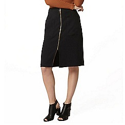 Dorothy Perkins - Black zip front skirt