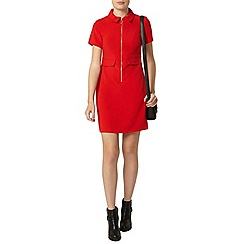 Dorothy Perkins - Red zip front dress
