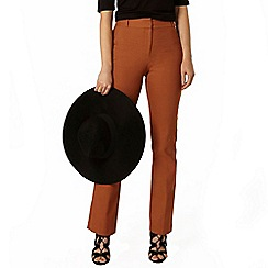 Dorothy Perkins - Ginger texture kick flare bengaline trousers