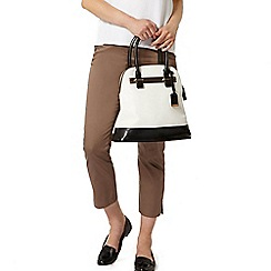Dorothy Perkins - Mocha cotton crop trousers