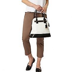 Dorothy Perkins - Mocha cotton crop trousers