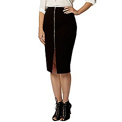 Dorothy Perkins - Black zip bengaline skirt
