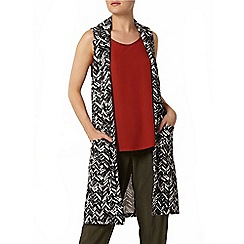 Dorothy Perkins - Chevron sleeveless jacket