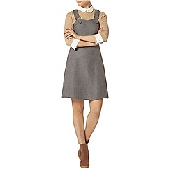 Dorothy Perkins - Grey herringbone pinny dress