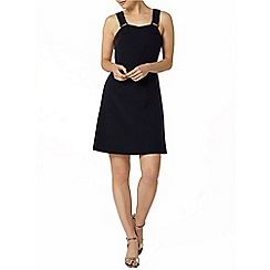 Dorothy Perkins - Navy buckle pinny dress