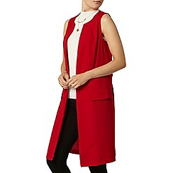 Dorothy Perkins - Red woven sleeveless jacket