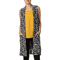 Dorothy Perkins - Chevron sleeveless jacket