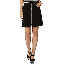 Dorothy Perkins - Black zip front mini skirt