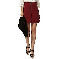Dorothy Perkins - Port zip front mini skirt