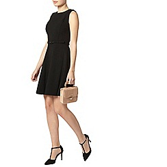 Dorothy Perkins - Black belted skater dress