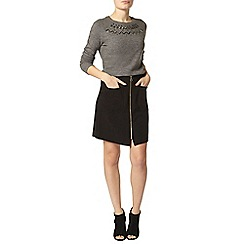 Dorothy Perkins - Black zip a line mini skirt