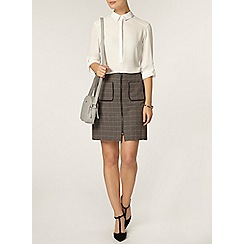 Dorothy Perkins - Grey check a line mini skirt