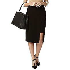 Dorothy Perkins - Black side buckle skirt