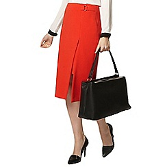 Dorothy Perkins - Red side buckle skirt