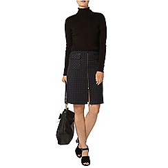 Dorothy Perkins - Navy check a line skirt