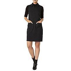 Dorothy Perkins - Navy check collar shift dress