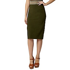 Dorothy Perkins - Green bengaline pencil skirt
