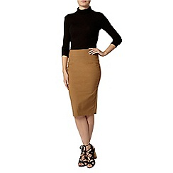 Dorothy Perkins - Tan bengaline pencil skirt