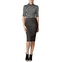 Dorothy Perkins - Grey benglaine pencil skirt