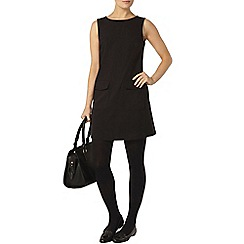 Dorothy Perkins - Back pu contrast shift dress