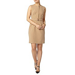 Dorothy Perkins - Camel belted shift dress