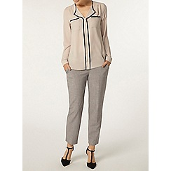 Dorothy Perkins - Grey x hatch trousers