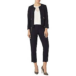 Dorothy Perkins - Navy boxy zip jacket