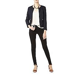 Dorothy Perkins - Tall navy boxy zip jacket