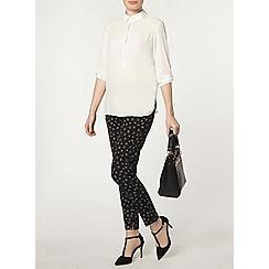 Dorothy Perkins - Black floral pique trouser