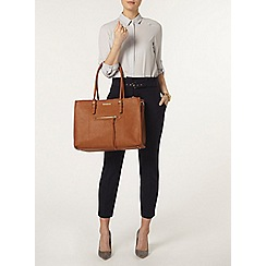 Dorothy Perkins - Navy paperbag waist trousers