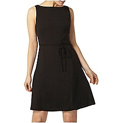 Dorothy Perkins - Black thin tie skater dress