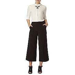 Dorothy Perkins - Black crepe wide leg crop trousers