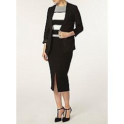 Dorothy Perkins - Black button detail skirt