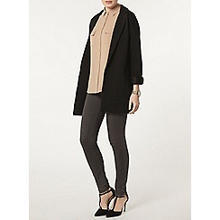 Dorothy Perkins - Black rib duster jacket