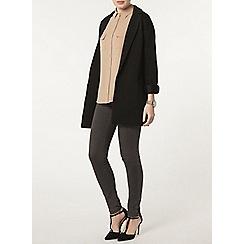Dorothy Perkins - Black rib duster jacket