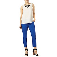 Dorothy Perkins - Cobalt tab cotton crop trouser