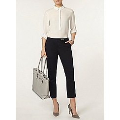 Dorothy Perkins - Navy cotton crop trouser