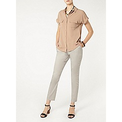 Dorothy Perkins - Tall grey cotton crop trouser