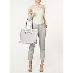 Dorothy Perkins - Grey tab front cotton crop