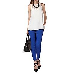 Dorothy Perkins - Tall cobalt cotton crop trouser