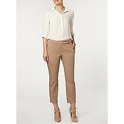 Dorothy Perkins - Stone tab front crop trouser