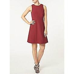 Dorothy Perkins - Red eyelet skater dress