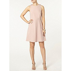 Dorothy Perkins - Nude eyelet skater dress
