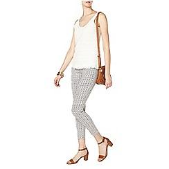 Dorothy Perkins - Tall grey tile skinny crop trouser