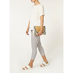 Dorothy Perkins - Grey tile print skinny crop trouser
